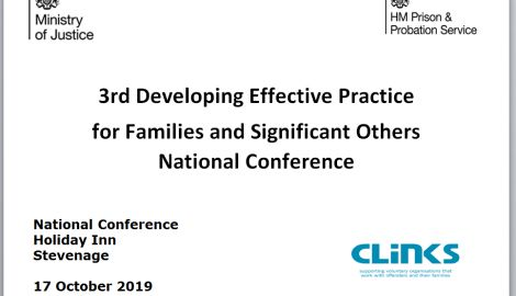 3rd HMPPS Families Conference 17th Oct 2019